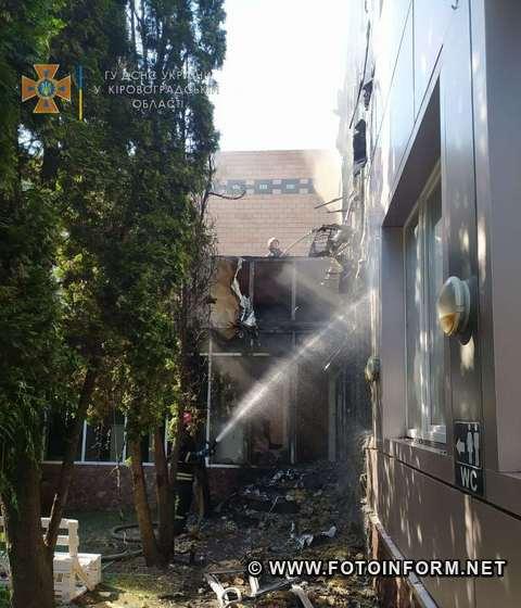 по вул. Волкова виникла пожежа двоповерхової будівлі (ФОТО)