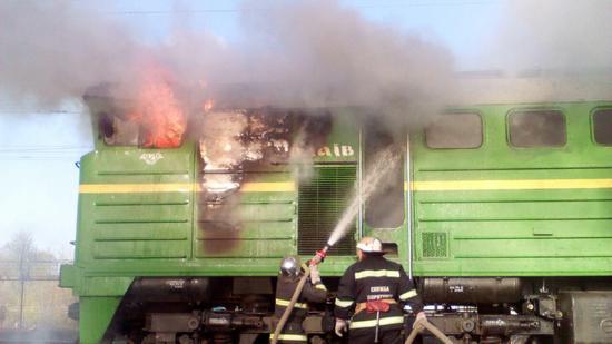 21 квітня о 07:26 до Служби порятунку «101» надійшло повідомлення про пожежу електрощитової в дизельному тепловозі 2ТЕ10У-0014 біля залізничної станції м. Долинська Знам'янської дирекції залізничних перевезень Одеської залізниці.
