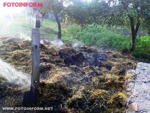 На Кіровоградщині згоріло 300 кг соломи (фото)