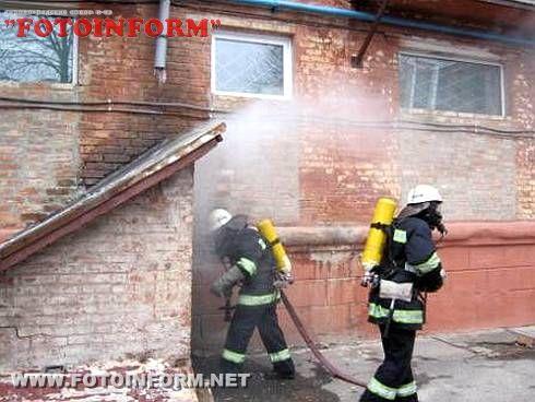 МНС:В Олександрії врятовано чоловіка, який курив у підвалі (ФОТО)