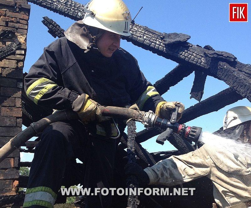 25 червня о 9:33 до Служби порятунку «101» надійшло повідомлення про пожежу у житловому будинку по вул. 6-го Грудня у м.Олександрія.