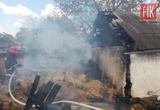 Впродовж дня 7 травня пожежно-рятувальні підрозділи Кіровоградської області ліквідували 3 пожежі споруд господарського призначення на території приватних домоволодінь.
