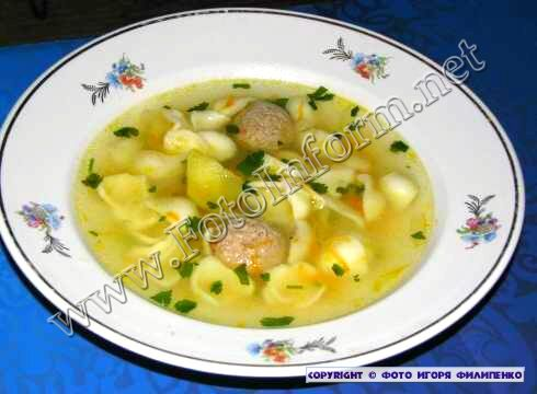 Домашний повар: Суп обалденный с фрикадельками фото Игоря Филипенко, FotoInform