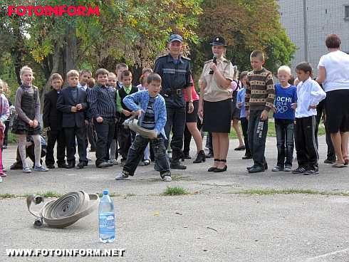 Кіровоградські школярі познайомилися з роботою рятувальників (ФОТО)
