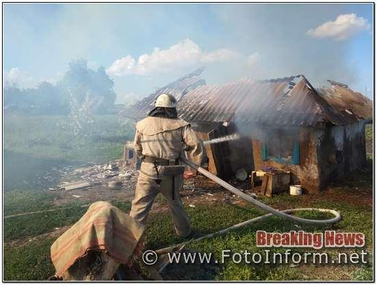 Протягом доби, що минула, пожежно-рятувальні підрозділи Кіровоградської області двічі виїздили на гасіння пожеж.