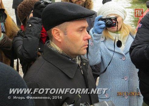 Сегодня, 28 ноября, возле Кировоградского городского совета состоялась бесплатный обед для бездомных кировоградцев.