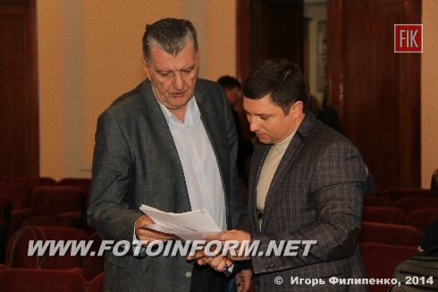 Внеочередная 43 сессия Кировоградского городского совета в фотографиях