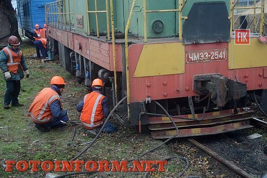 Ліквідація наслідків сходження рухомого складу на станції Одеса-Товарна