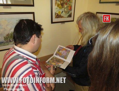 Сегодня, 15 сентября, в Кировоградской галерее «Елисаветград» состоялось открытие выставки картин «Роман с акварелью».