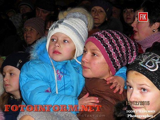 В Кировограде засветила огнями главная новогодняя елка, площадь героев майдана, кировоградские новости, андрей райкович. Дед мороз, снегурочка, фото игоря филипенко