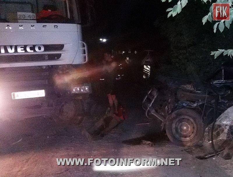 18 червня о 22:58 до Служби порятунку «101» надійшло повідомлення про ДТП у м. Новоукраїнка.