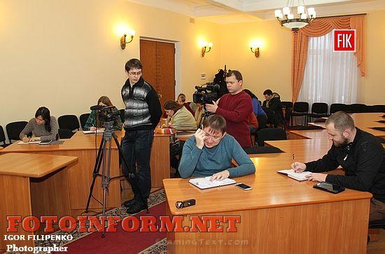 Пресс-конференция в горсовете