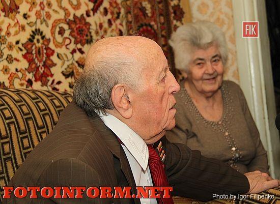 Кировоград: Андрей Райкович пришел в гости к ветерану войны, Леониду Фильштейну, фото Игоря Филипенко