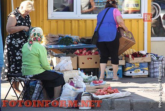 Кропивницкий: в центре города боролись со стихийным рынком (фоторепортаж)