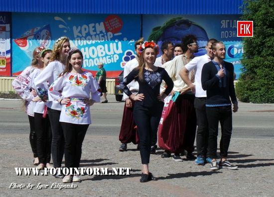 Сьогодні, 18 травня , студенти медуніверситету провели патріотичний флешмоб до Всесвітнього дня вишиванки
