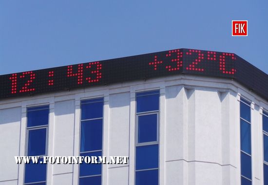 Спека у Кропивницькому: термометри показують 32 градусів тепла