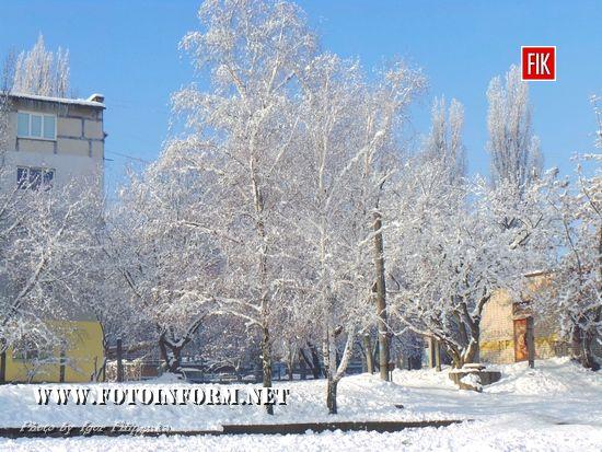 Зимова казка: фото засніженого Кропивницького