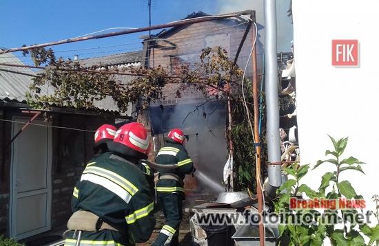 Кіровоградщина, 2 пожежі, рятувальники, на вул. Володимирській у м. Новоукраїнка