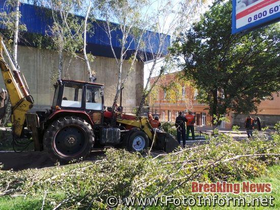 Наслідки буревію у Кропивницькому (ФОТО)