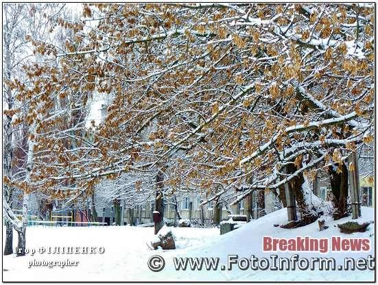Кропивницькому, комунальники, розчищають місто від першого снігу, фото игоря филипенко