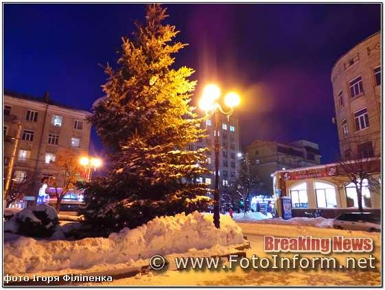 Зимова казка, нічного Кропивницького, в об'єктиві Ігоря Філіпенка