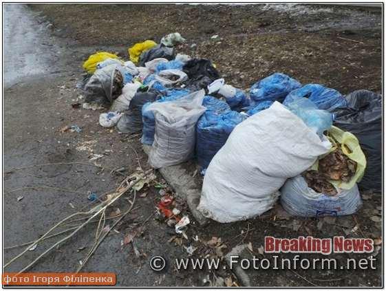 Комунальні служби, закривають очі, безлад, на вулицях Кропивницького, купа сміття, ФОТО,