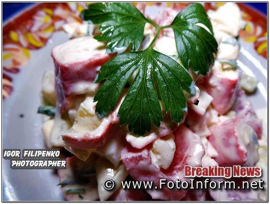 рецепт салата из крабовых палочек , Игоря Филипенко, кропивницкий,