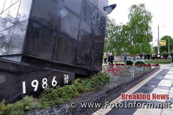Річниця вибуху на Чорнобильській АЕС під час карантину у Кропивницькому (
