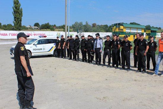 На Кіровоградщині провели навчання із забезпечення публічної безпеки під час футбольних матчів