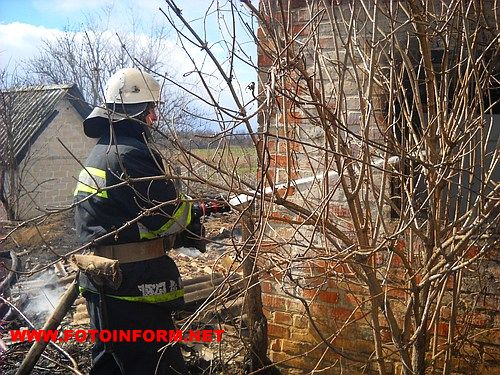 19 березня о 12:29 до Служби порятунку «101» надійшло повідомлення про пожежу у с.Вершино-Кам׳янка Новгородківського району.