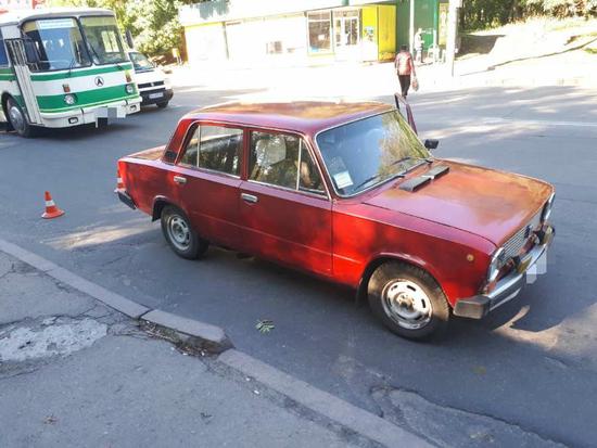 У Кропивницькому на вулиці Вокзальній сталася ДТП (ФОТО)