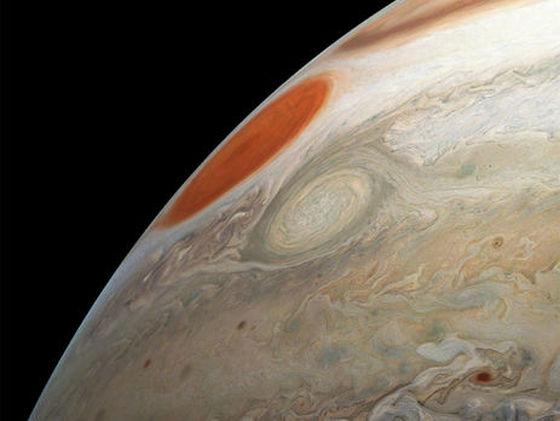 NASA, снимки штормов на Юпитере, космос, NASA, Юпитер, Juno,
