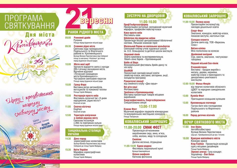 Програма День міста Кропивницький