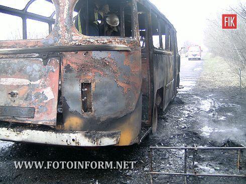5 квітня о 16:20 в Світловодському районі на автошляху «Олександрія-Глинськ» виникла пожежа пасажирського автобуса «ПАЗ», який здійснював рейс за маршрутом «Микільське-Олександрія».