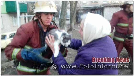 За добу, що минула, до пожежно-рятувальних підрозділів Кіровоградщини двічі надходили повідомлення з проханнями допомогти врятувати домашніх улюбленців.