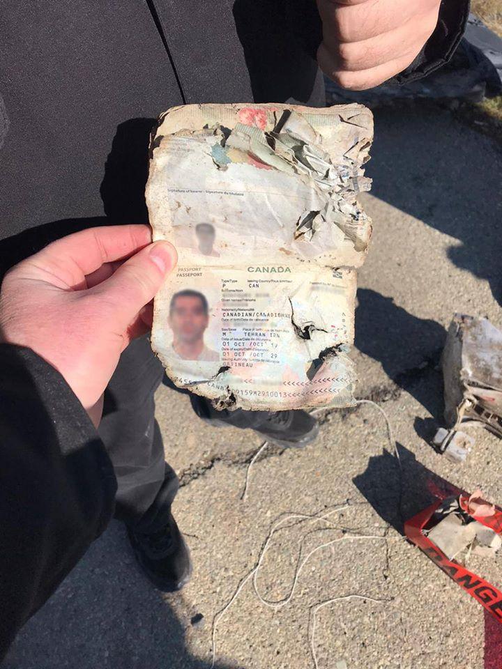 Авіакатастрофа літака українських авіаліній МАУ в Ірані. Фото решток літака