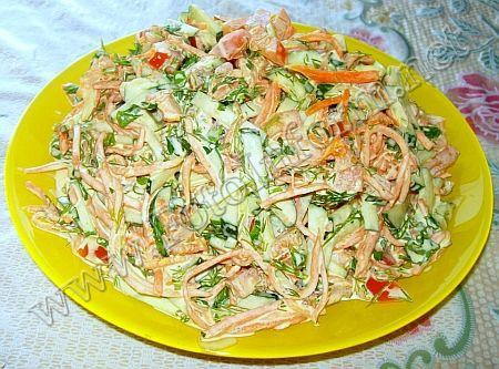 Самый простой салат из возможных простых