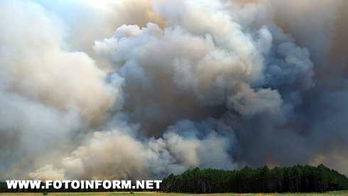 Кіровоградські рятувальники залучались до ліквідації великих лісових пожеж на Херсонщині (фото)