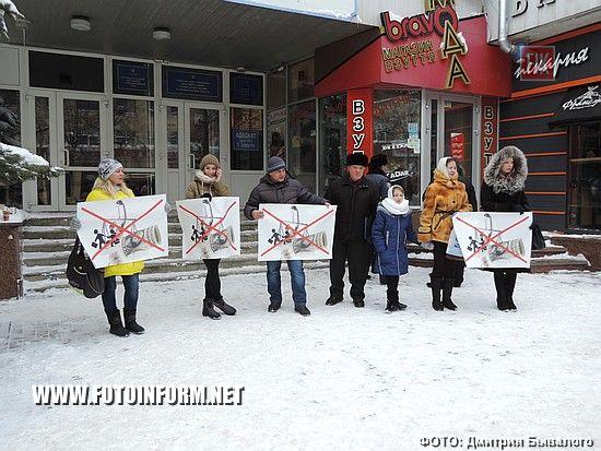 У Кропивницькому новий рік розпочався з пікету (ФОТО)