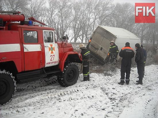 23 грудня о 08:10 до Служби порятунку «101» надійшло повідомлення про те, що на автодорозі Кропивницький-Кривий Ріг автомобіль «Peugeot Boxer» з'їхав у кювет та потребує допомоги.