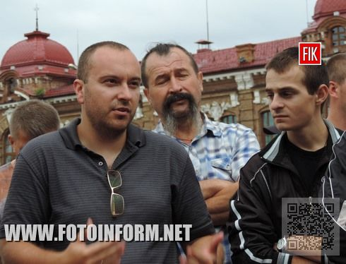 Кіровоград: територіальна оборона зібралась в центрі міста