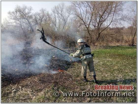 На Кіровоградщині вогнеборці загасили 17 пожеж
