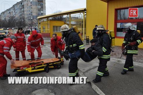 У Кіровоградській області тривають навчання служб цивільного захисту щодо ліквідації різних надзвичайних подій і ситуацій на об'єктах з масовим перебуванням людей.