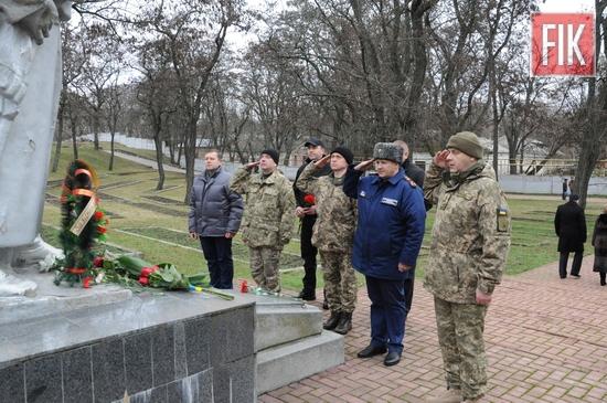 8 січня у м. Кропивницький на меморіальному комплексі «Фортечні вали» відбувся урочистий мітинг з нагоди 74-ї річниці визволення міста від німецько-фашистських загарбників.