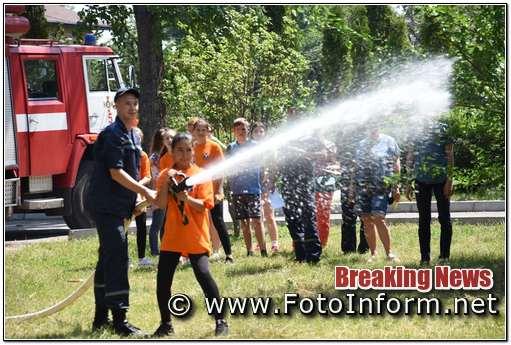 Команда юних пожежних із Кропивницького