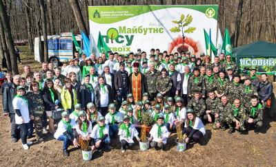 150 учасників акції «Майбутнє лісу у твоїх руках» подарували Кіровоградщині новий ліс (ФОТО)