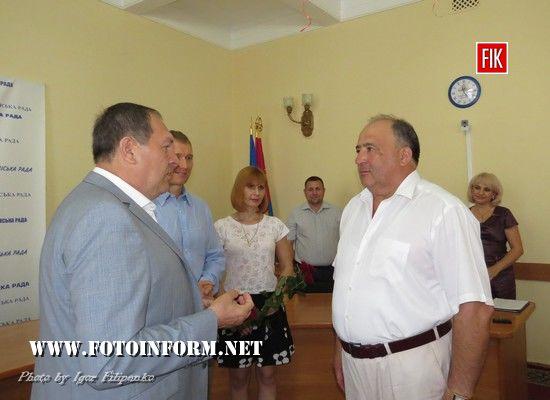 Сьогодні, 27 липня, у Кіровоградській міській раді відбулися урочистості з нагоди Дня торгівлі.