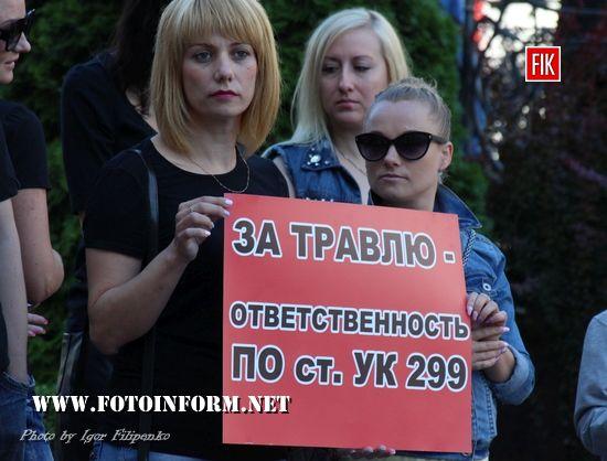 У Кропивницькому біля міської ради провели флешмоб, 30 хвилин мовчання, фото Ігоря філіпенка