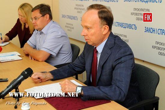 Сьогодні, 11 липня 2018 року, у прокуратурі області відбулася прес-конференція прокурора Кіровоградської області Анатолія Коваленка щодо результатів роботи відомства за перше півріччя.