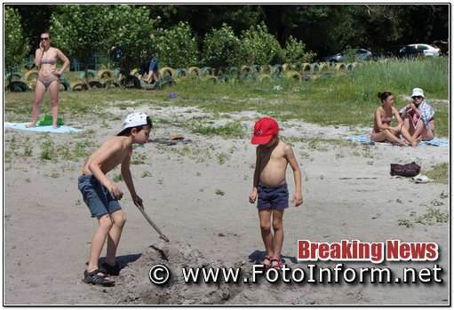 У Кропивницькому на пляжі, багато відпочивальників, фоторепортаж, фото филипенко